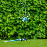 Flopro dekorativ roterande sprinkler med blommotiv