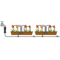 Flopro droppbevattning för krukor och odlingslådor, bild 3