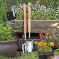 Kortskaftad planteringsspade i rostfritt stål