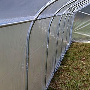 Tunnelväxthus Spira, detaljbild sidoprofiler