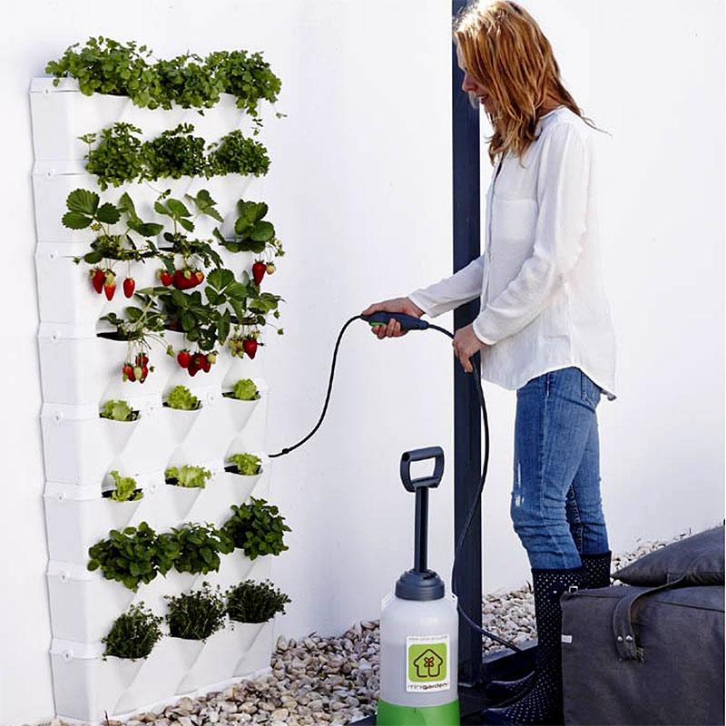 Väggodling Kitchen Garden, grön med plats för 24 växter