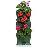 Minigarden One, vertikalodling med pelargoner