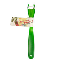 Snittkniv - Flower Power, grön