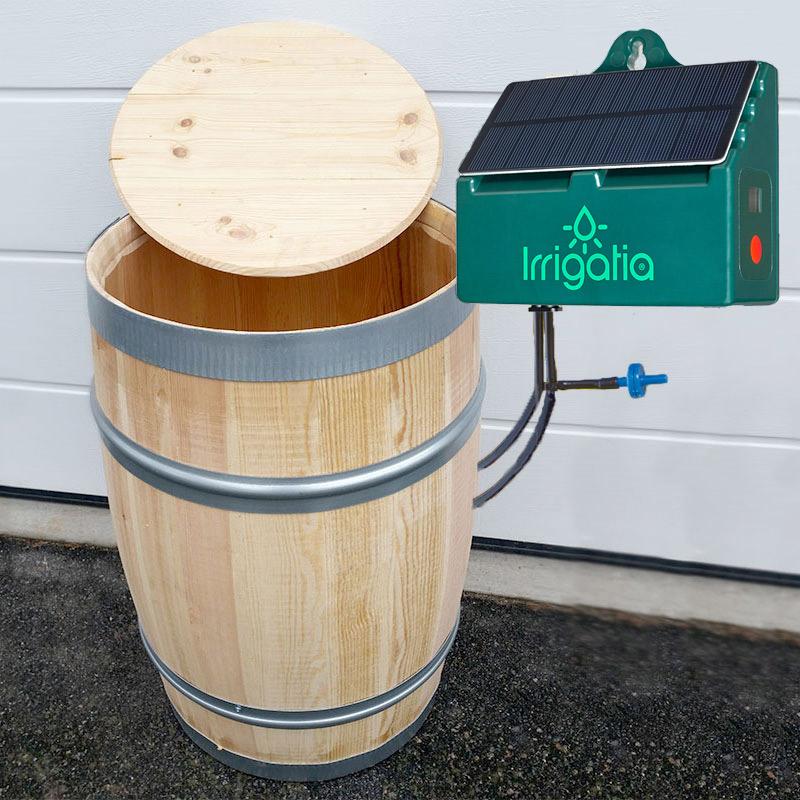 Irrigatia SOL-C12 med vattentunna