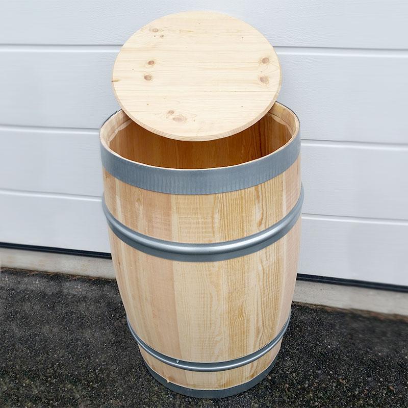 Vattentunna i trä med lock, 115 L
