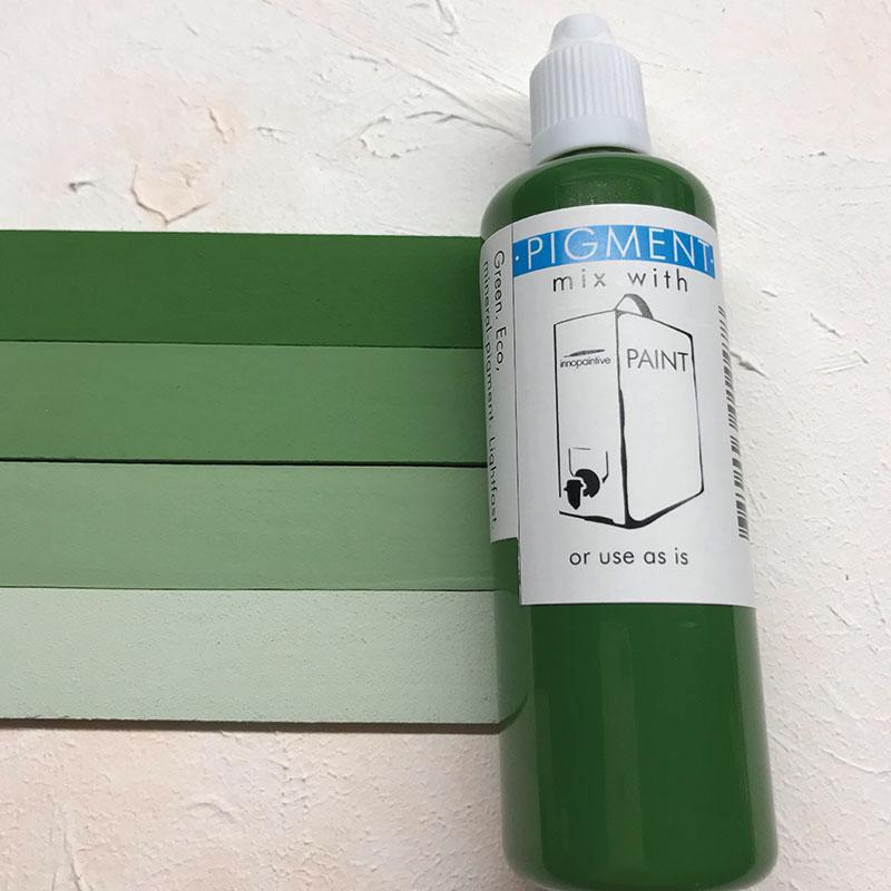 Ekofärg, mineralbaserad färg för målning av krukor och trädgårds, grönt pigment