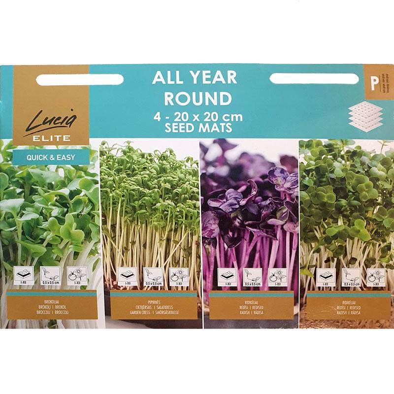 Frömattor för odling av småblad inomhus, All Year Round mix