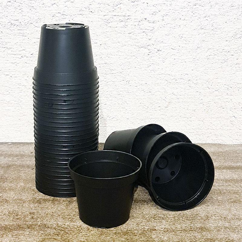 Runda plastkrukor 6 cm, 30-pack