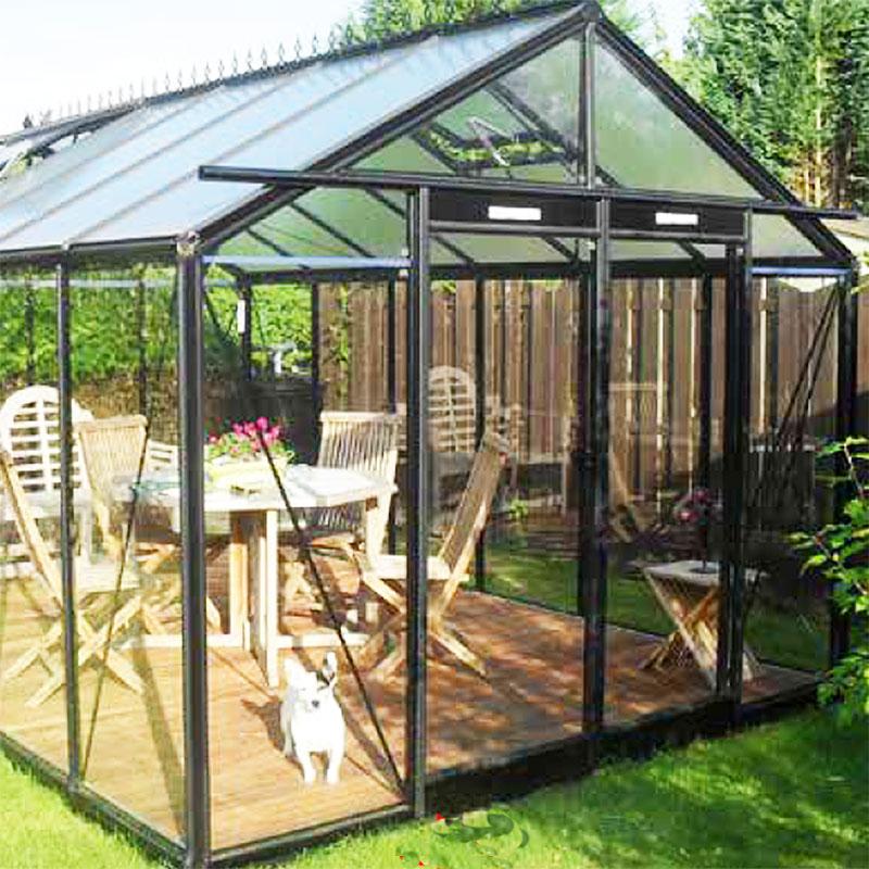 Glasväxthus Retro 13,6 i svart