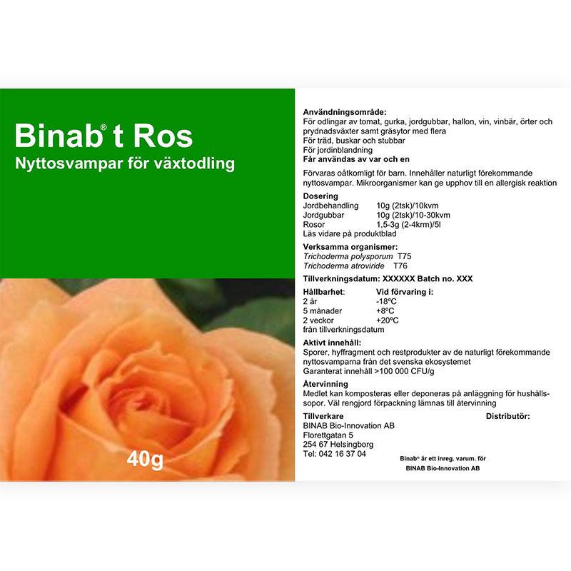 Binab t Ros - Nyttosvampar för växtodling.