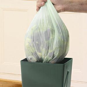 Biologiskt nedbrytbar påse till Compost Caddy - 9 liter-Biologiskt nedbrytbar kompostpåse till komposthink