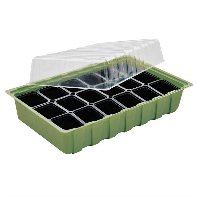 Miniväxthus för inomhusodling, grön
