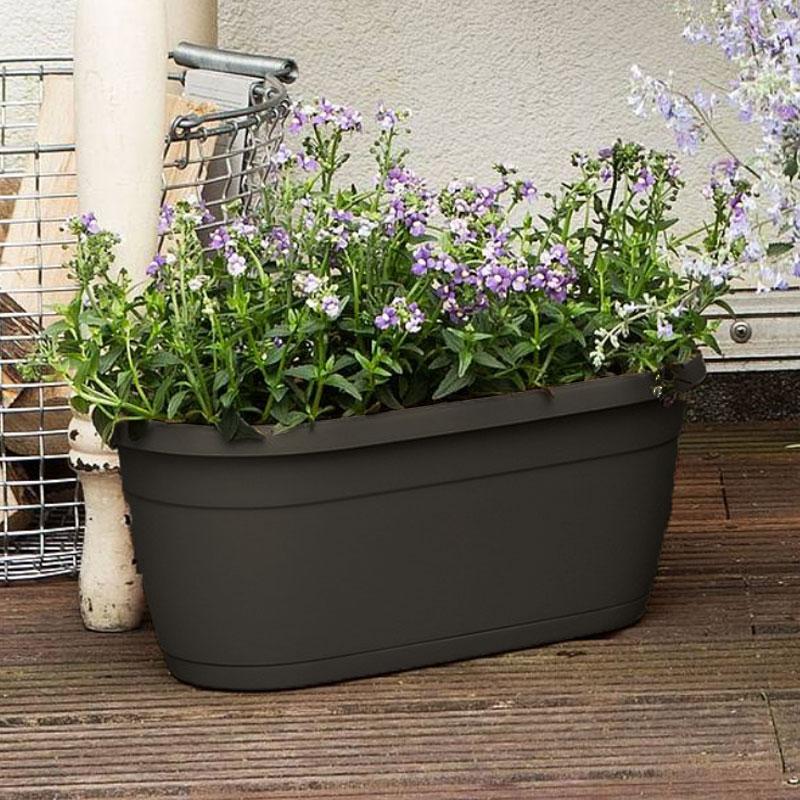 Enkel blomlåda för balkong, terrass och fönsterbleck