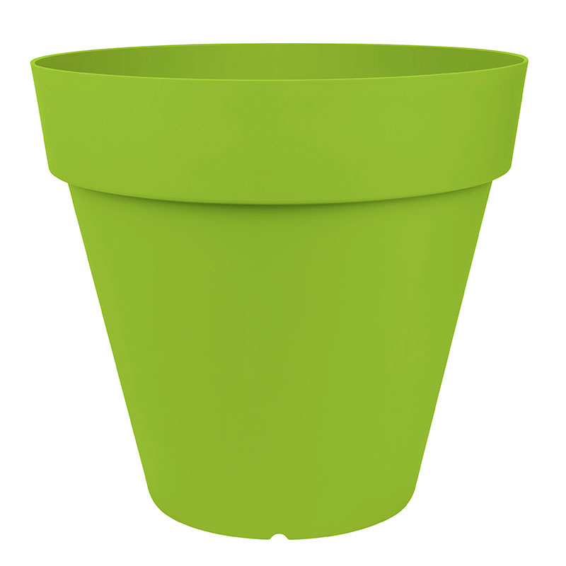 City Classic kruka 50x45 cm, grön, för inomhus och utomhusbruk.