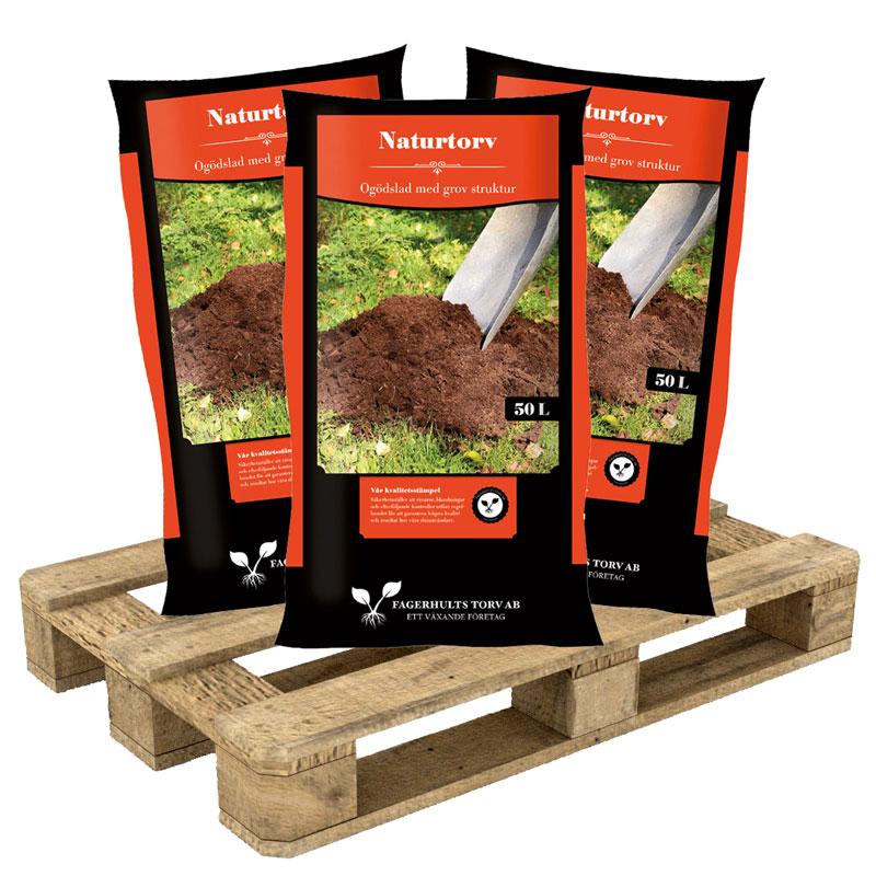 Naturtorv 45x50 L på pall, för jordförbättring och struktur