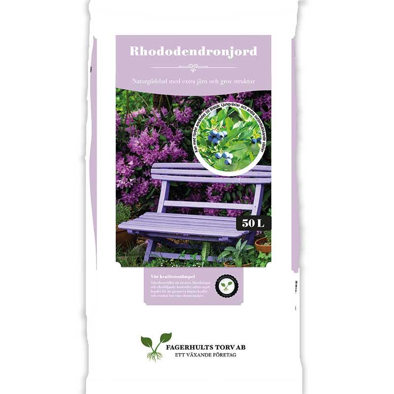 Rhododendronjord 50 L, för surjordsälskande växter