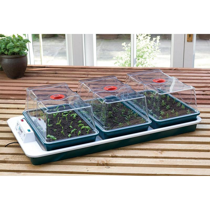 växthus med termostatreglerad undervärme Big 3