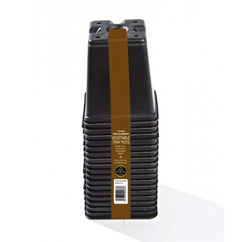 Fyrkantskrukor 9 cm, 18-pack