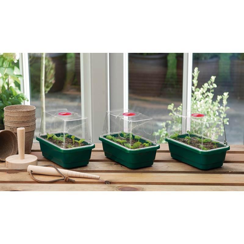 Miniväthus, grön med hög kupa