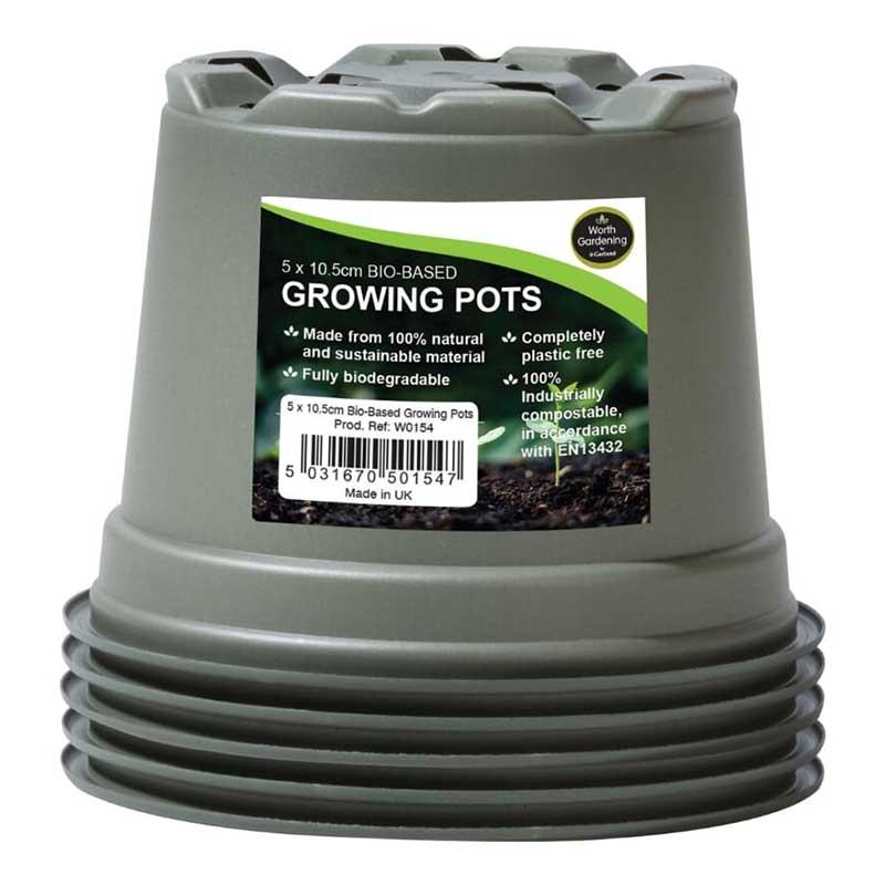 Planteringskruka 10,5 cm, biobaserad (5-pack)