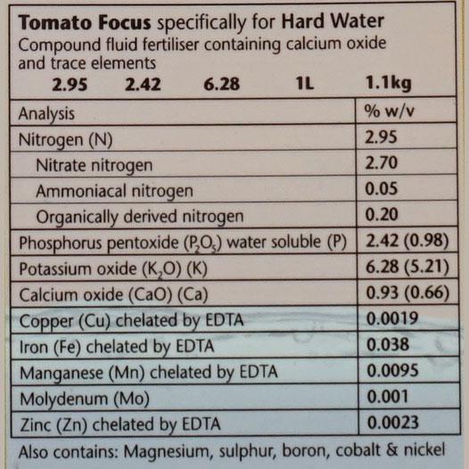 Tomatnäring - Tomato Focus Hard Water, 1 liter,