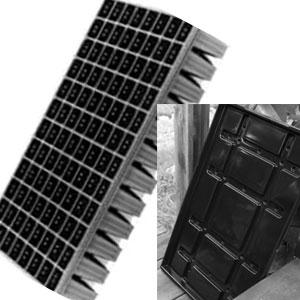 Pluggbrätte 96 celler + bevattningsbricka-Pluggbrätte 96 celler och underbevattningsbricka.