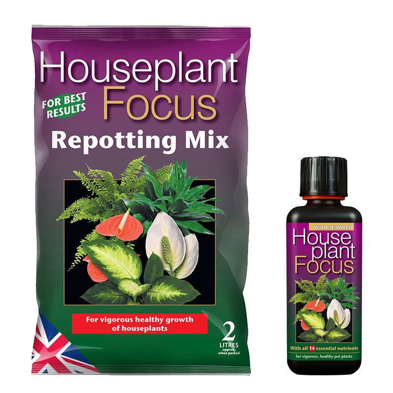 Jord- och näringspaket för krukväxter