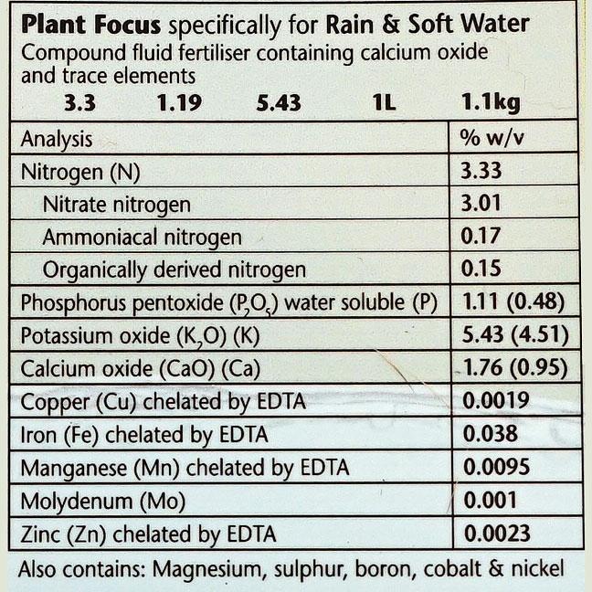 Plant Focus Soft Water, 1 liter,