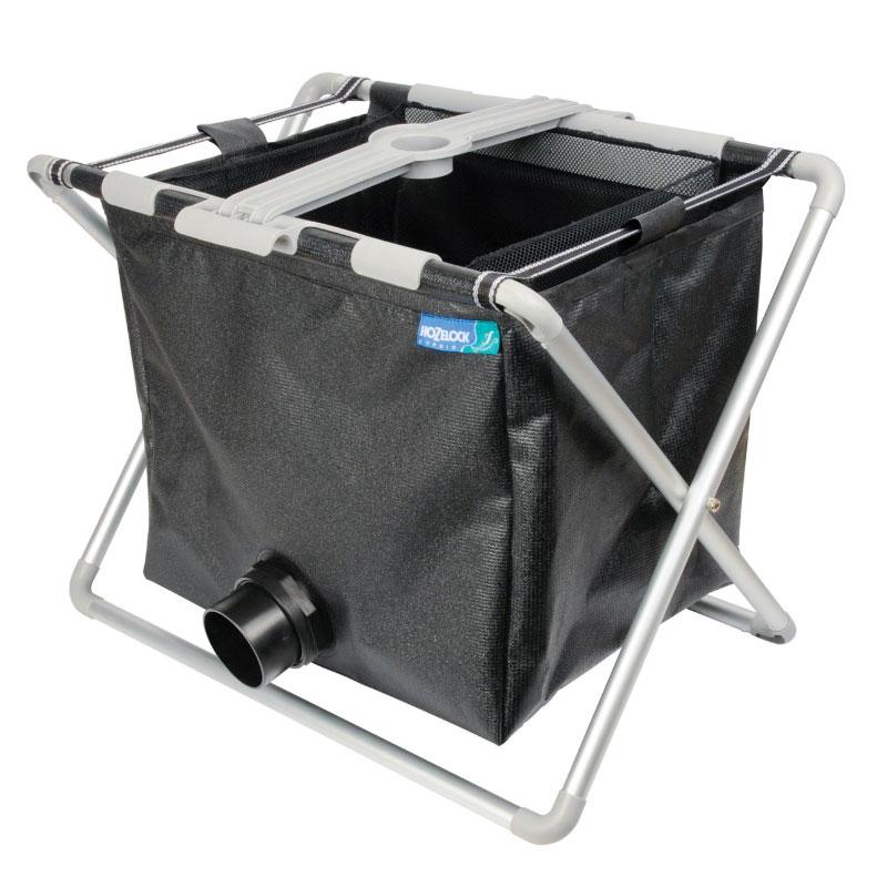 Pond Vac-korg för återvinning av filtrerat dammvatten.