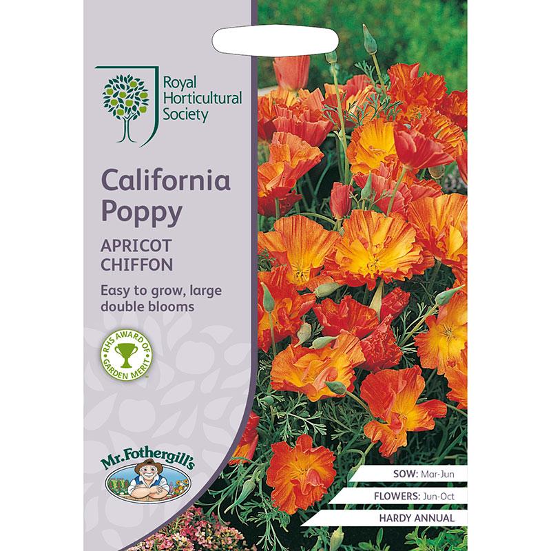 Frö till Sömntuta 'Apricot Chiffon', Eschscholzia californica