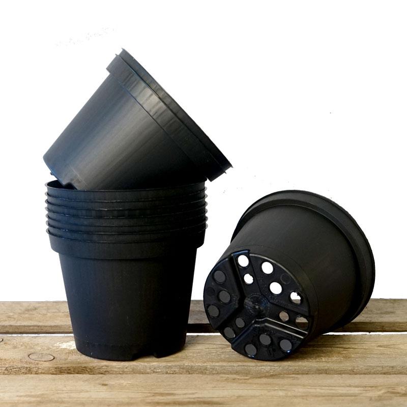 Plastkruka, 12 cm diameter, 10-pack