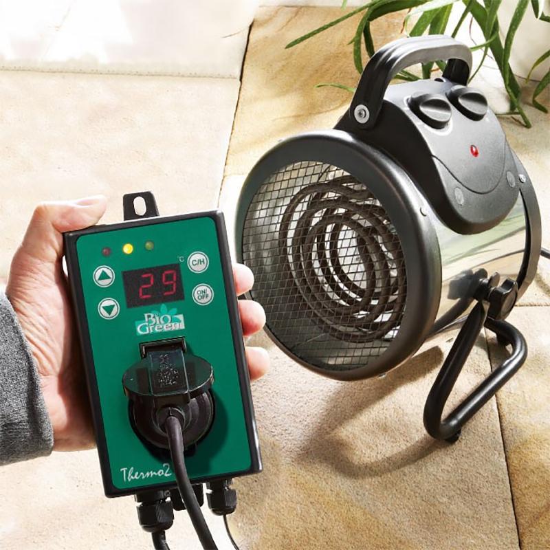 Värmefläkt för växthus och uterum