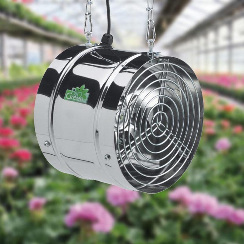 Fläkt för ventilation av  växthus