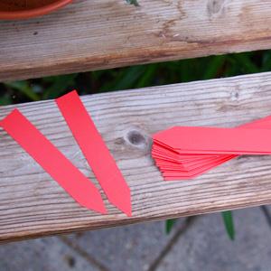 Plantetiketter 50-pack - Röda-Växtetiketter, röda