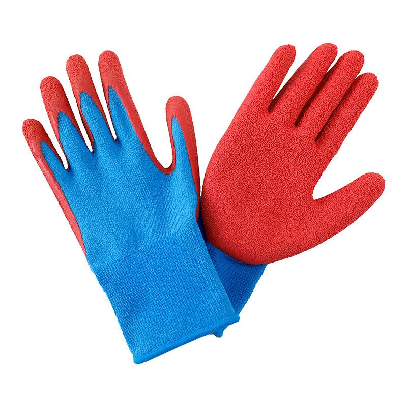 Trädgårdshandskar för barn, blå/röd