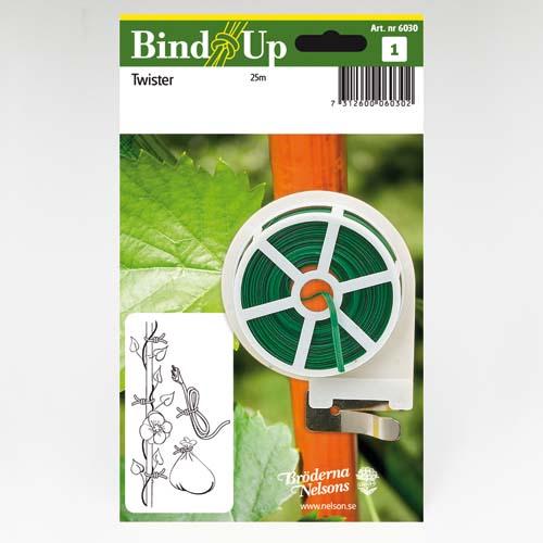 Grön bindtråd med avbitare 25 meter-bindtråd med avbitare