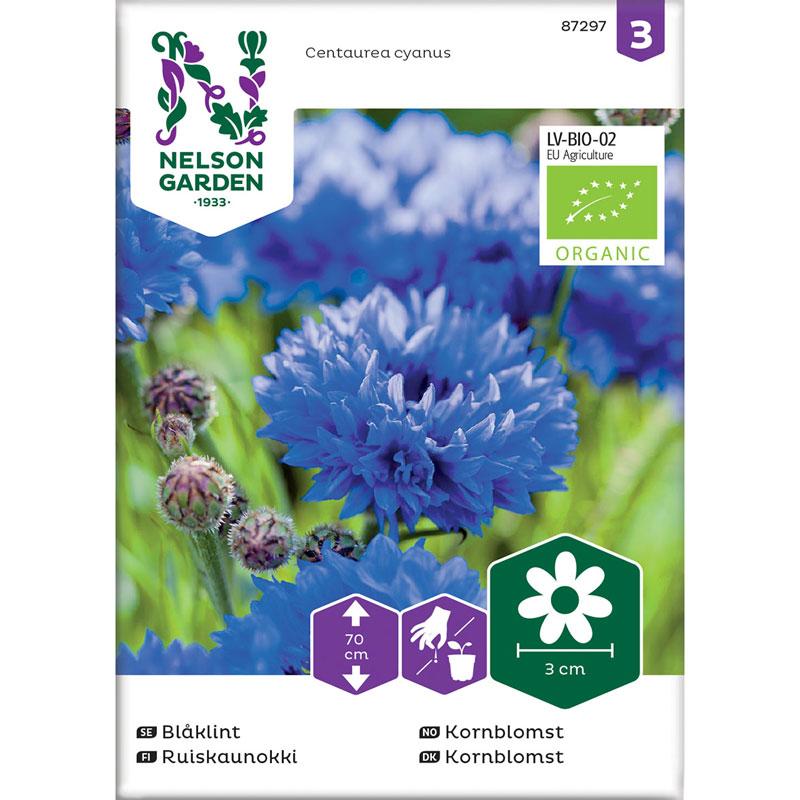 Frö till hög Blåklint, Centaurea cyanus, Organic, ekologiskt