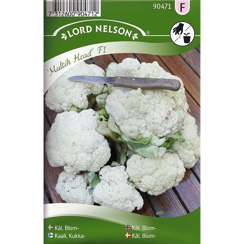 Frö till Blomkål, Brassica oleracea 'Multih Head' F1