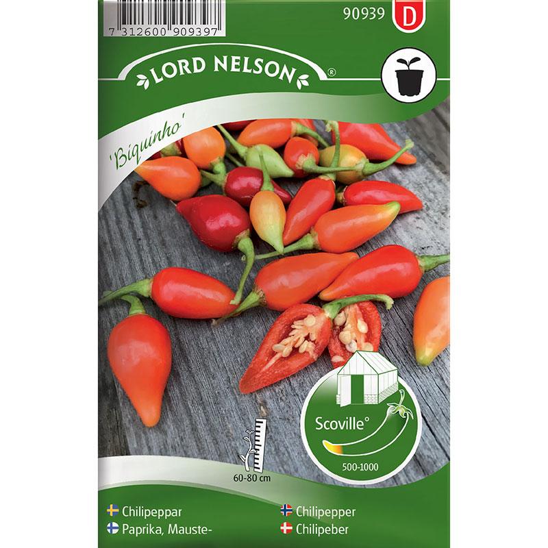 Frö till Chilipeppar, Capsicum chinense 'Biquinho'