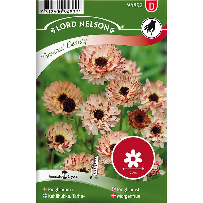Frö till Ringblomma, Calendula officinalis 'Bronzed Beauty'