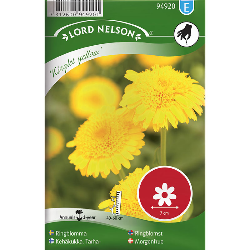 Frö till Ringblomma, Calendula officinalis 'Kinglet Yellow'