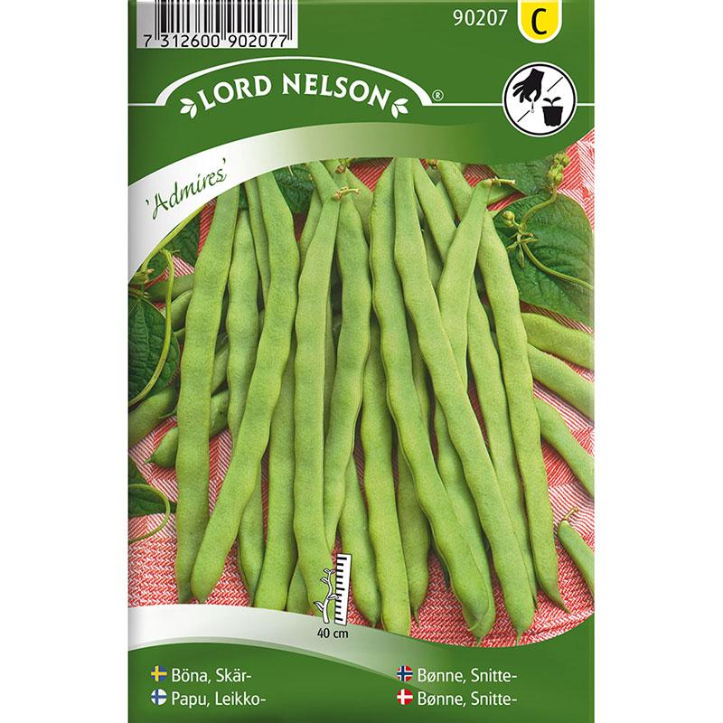 Frö till Skärböna, Phaseolus vulgaris 'Admires'