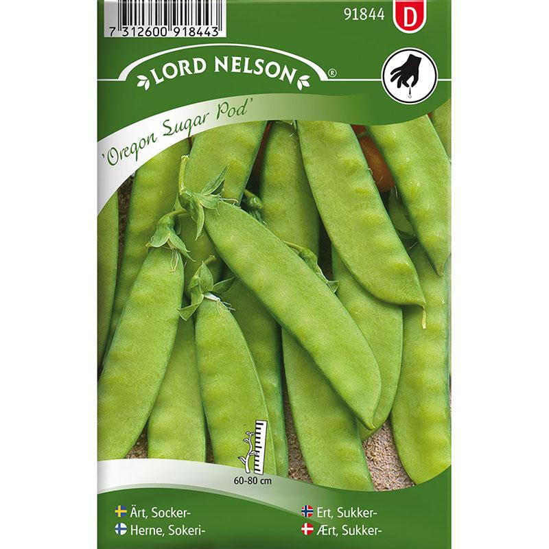 Frö till Sockerärt, Pisum sativum 'Oregon Sugar Pod'