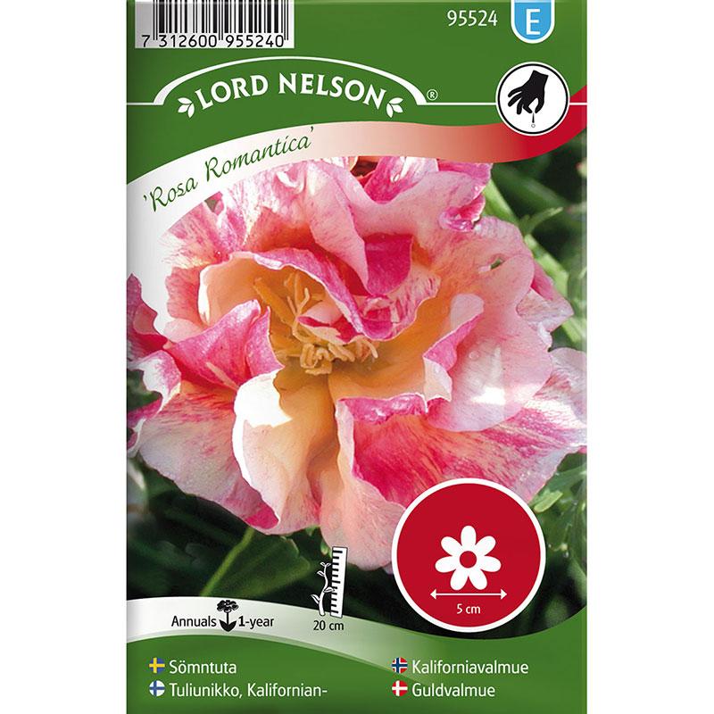 Frö till Sömntuta, Eschscholzia californica 'Rosa Romantica'