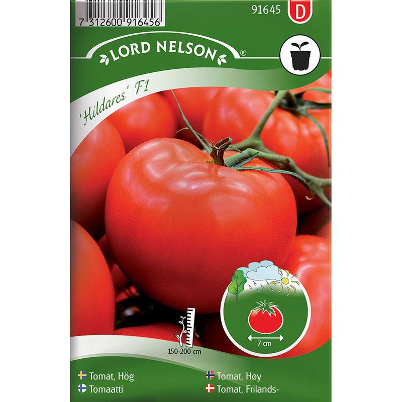 Frö till Tomat, Solanum lycopersicum 'Hildares' F1