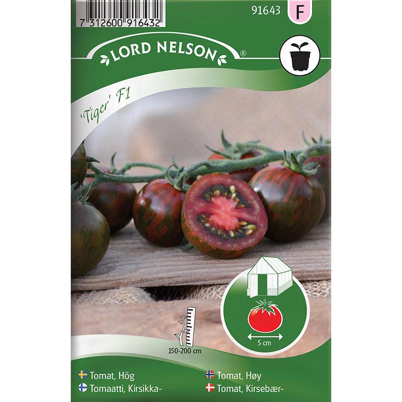 Frö till Tomat, Solanum lycopersicum 'Tiger' F1
