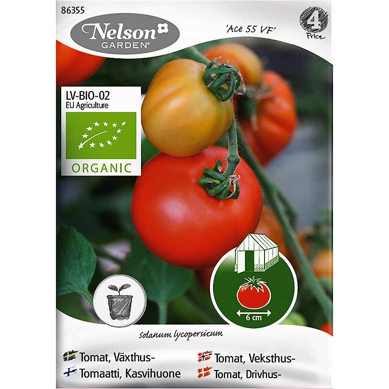 Ekologiskt frö till växthustomat, Ace 55 VF