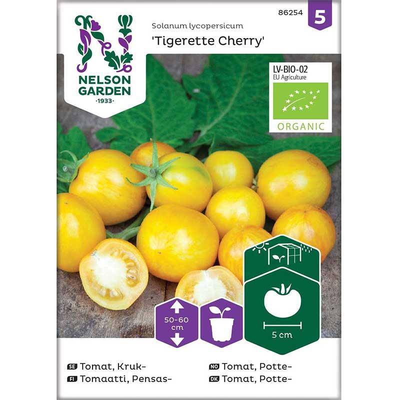 Frö till körsbärstomat 'Tigerette Cherry', ekologisk