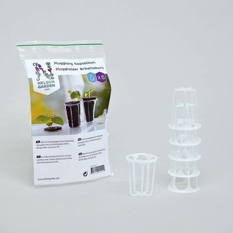Pluggkorg för hydroponisk odling 6-pack