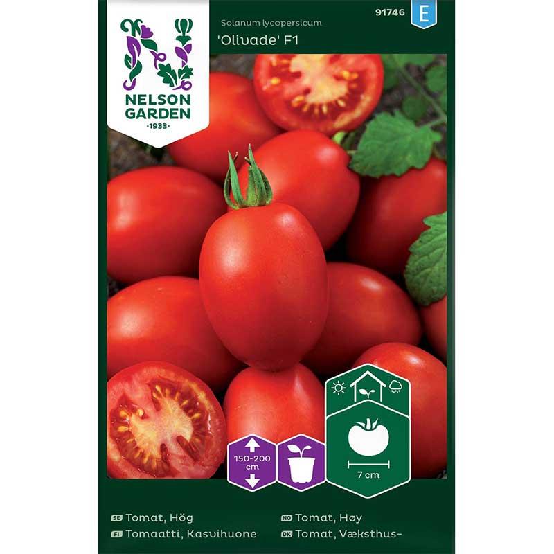 Frö till Växthustomat, Solanum lycopersicum 'Olivade' F1